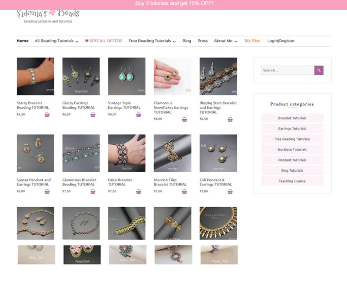 e-commerce Sidonia's Beads
