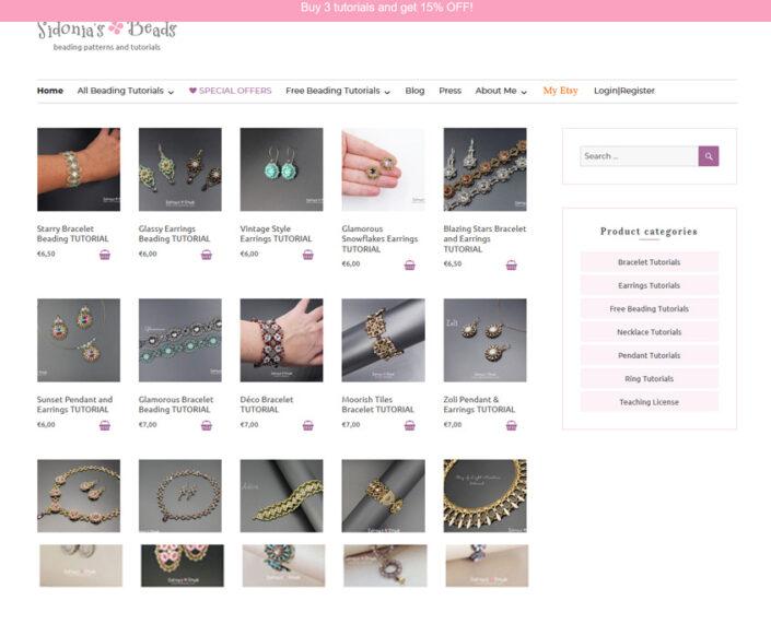 e-commerce Sidonia's Beads