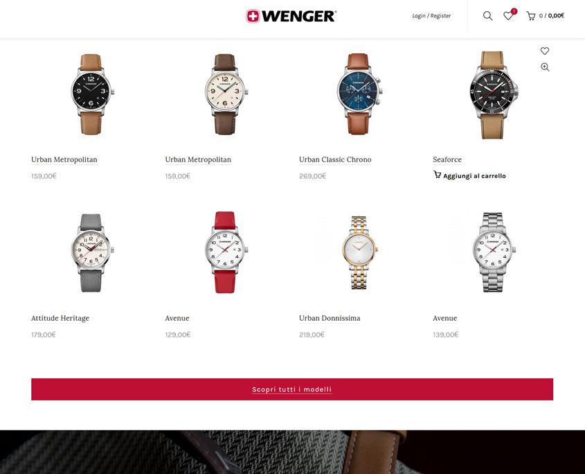 e-commerce Wenger Orologi (Victorinox)